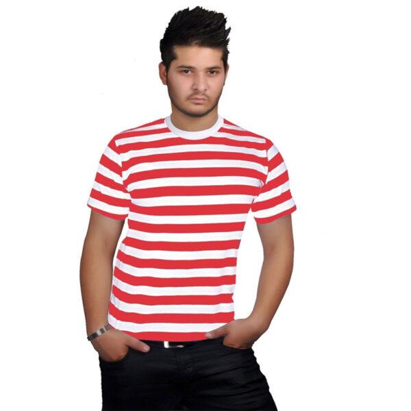 Mens Red White TShirt 1