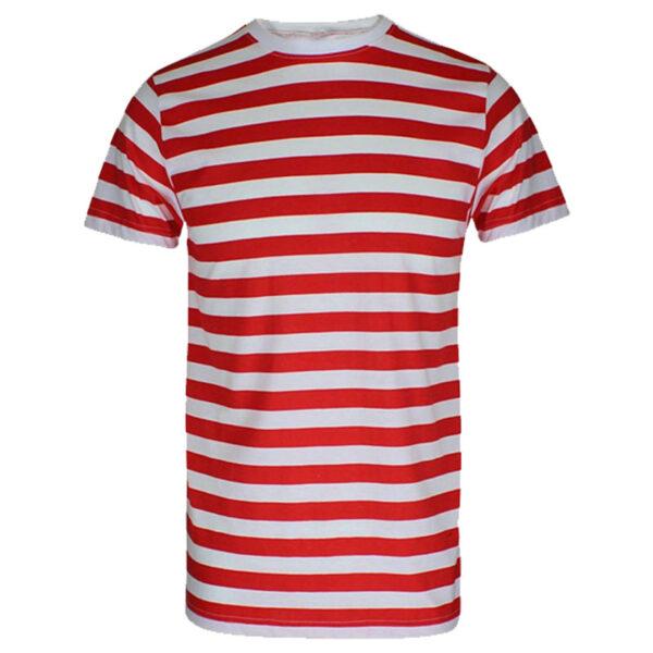 Mens Red White TShirt