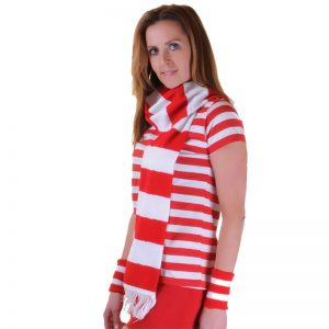 Red And White Stripe Scarf