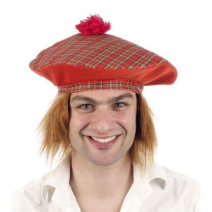 Tartan Scottish Hat With Hair