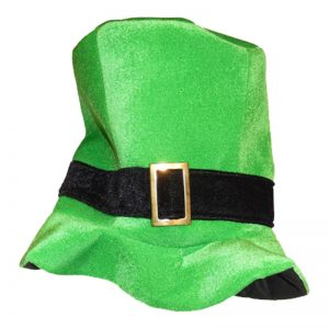 St Patricks Day Green Top Hat With Black Band