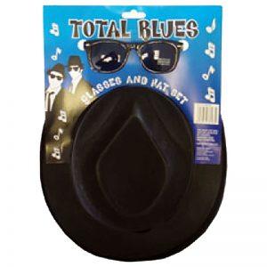 Total Blues Hat & Glasses Set