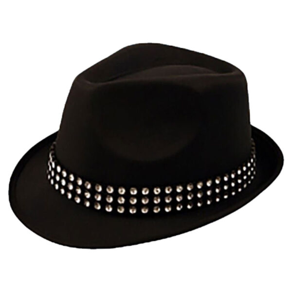 Trilby Hat With Gem Stones