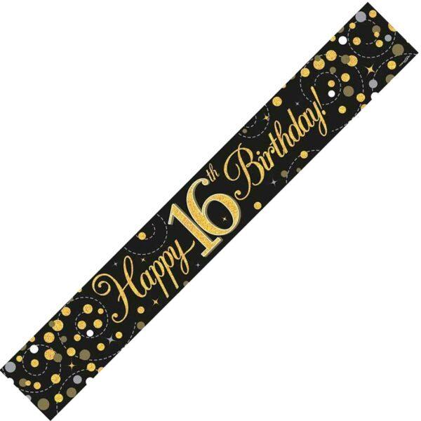 16th Black & Gold Banner