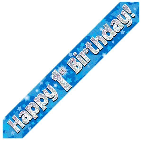 1st Blue Birthday Banner