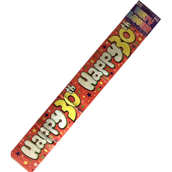 Happy 30th Birthday Party Banner