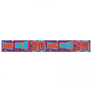 The Big 30th Happy Birthday Banner