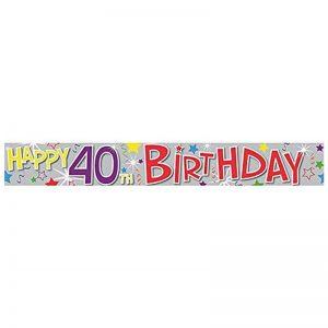 40th Happy Birthday Holographic...
