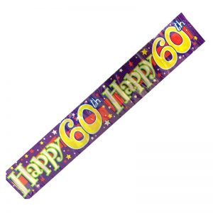 Happy 60th Birthday Party Banner