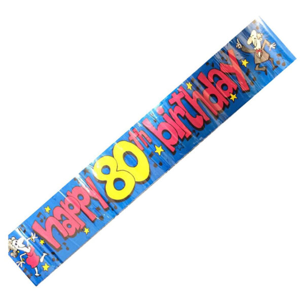 Happy 80th Birthday Party Banner
