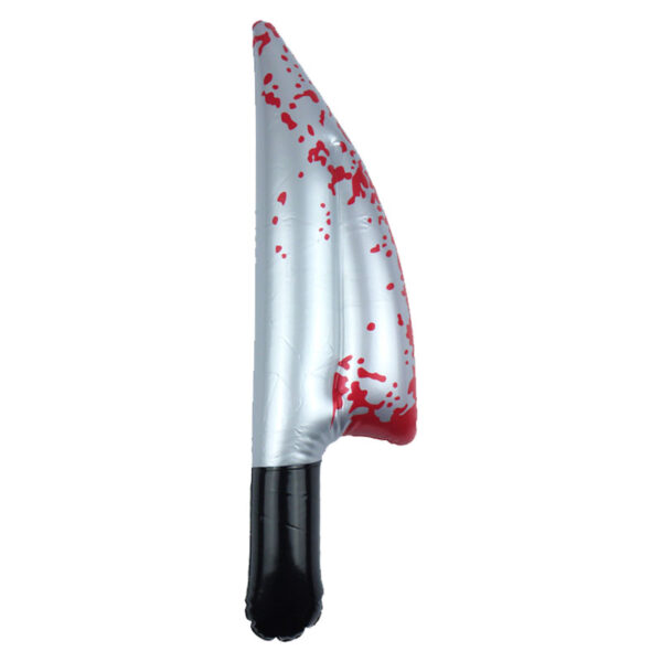 Inflatable Bloody Knife for Halloween Costumes Blow up toy party decoration