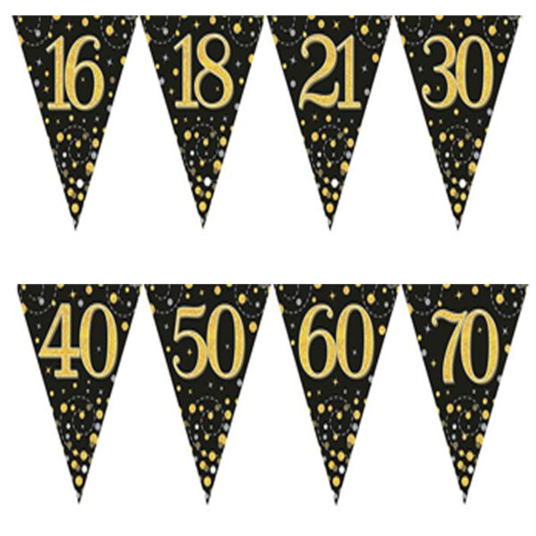 Main Black And Gold Bunting