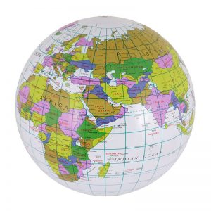 Inflatable Globe 40cm Blow Up Toy