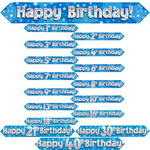Main Blue Birthday Banner