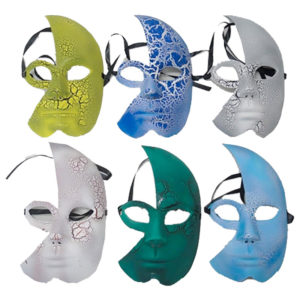 Masquerade Face Mask Assorted Pack of 6