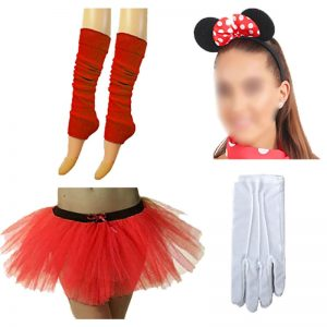 Red Minnie Mouse Costume Set