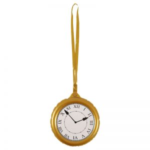 Inflatable Jumbo Clock With Necklace