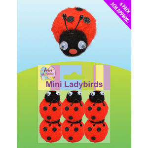 Mini Ladybirds 6Pcs