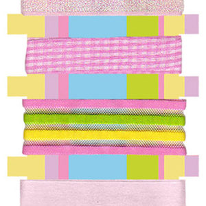 Assorted Easter Decorative Ribbons 3Pcs