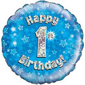 Happy Birthday Holographic Balloon