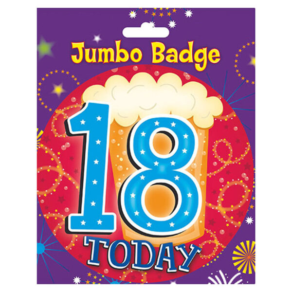 18 Boys Birthday Badge
