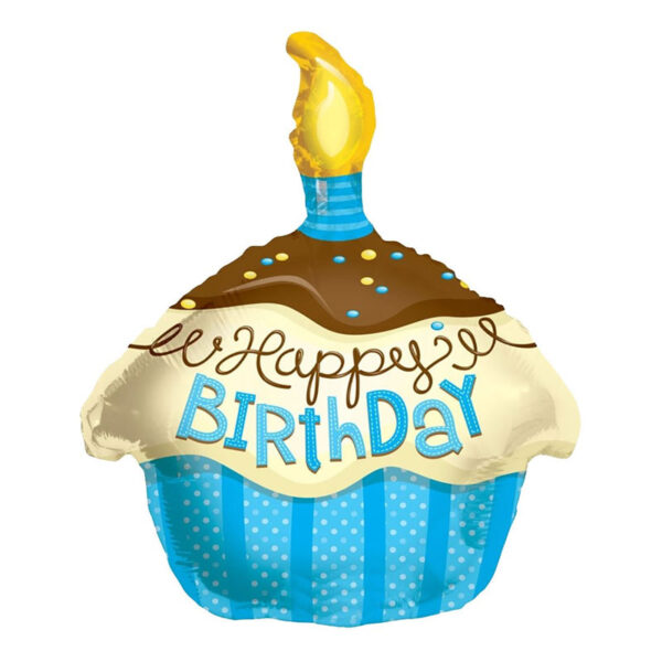 Blue Cupcake Balloon