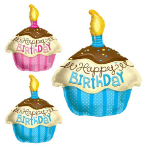 Cupcake Birthday Balloon