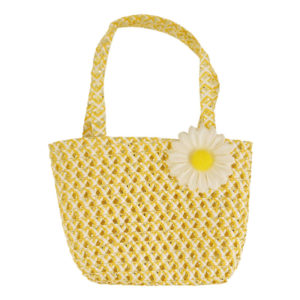 Yellow Easter Bag With Flower