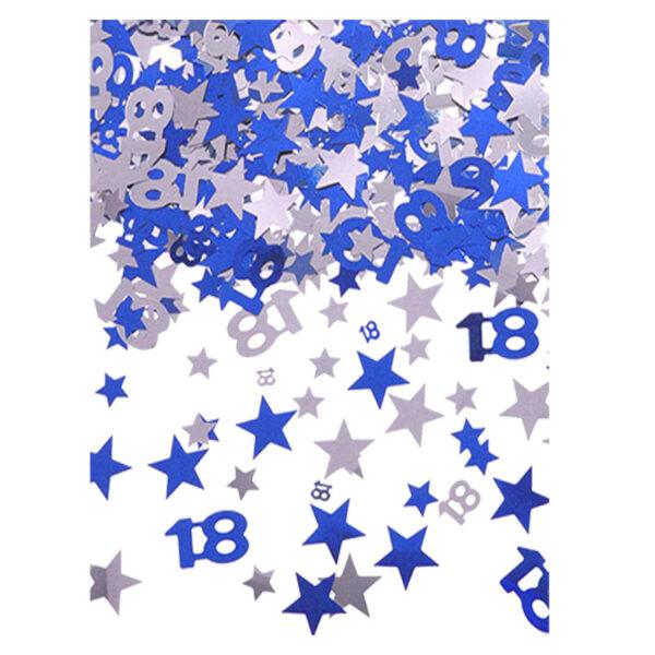 18 Blue Star Confetti