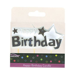 Happy Birthday Star Candle Pick