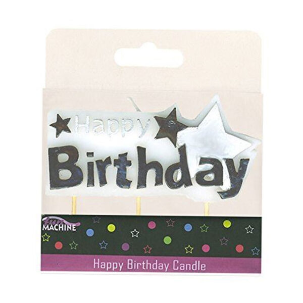 Happy Birthday Star Candle