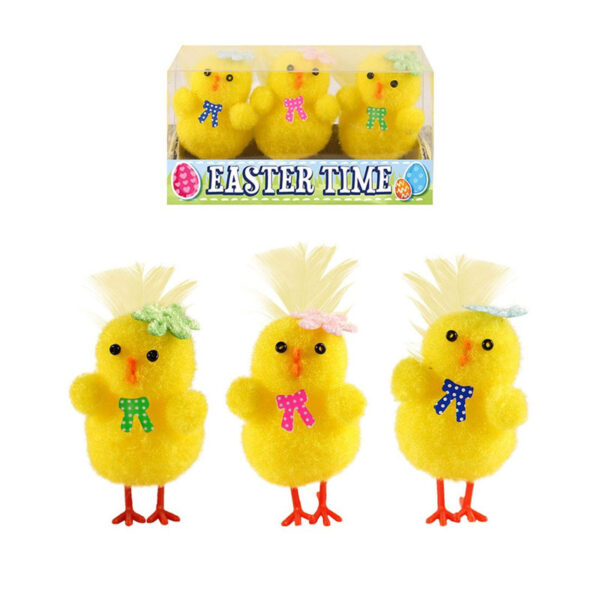 Assorted Yellow Easter Chicken