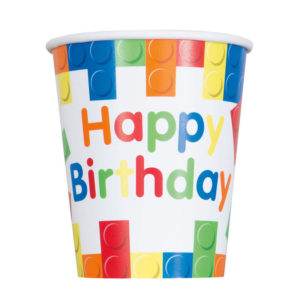 Building Blocks Happy Birthday Cup
