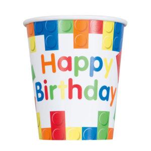 Building Blocks Happy Birthday Cup