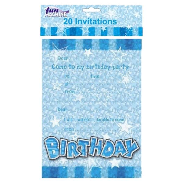 Blue Birthday Glam Invitate