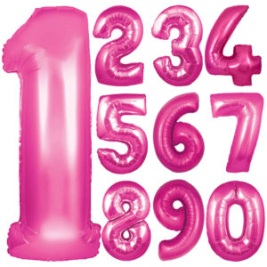Pink Number Balloon