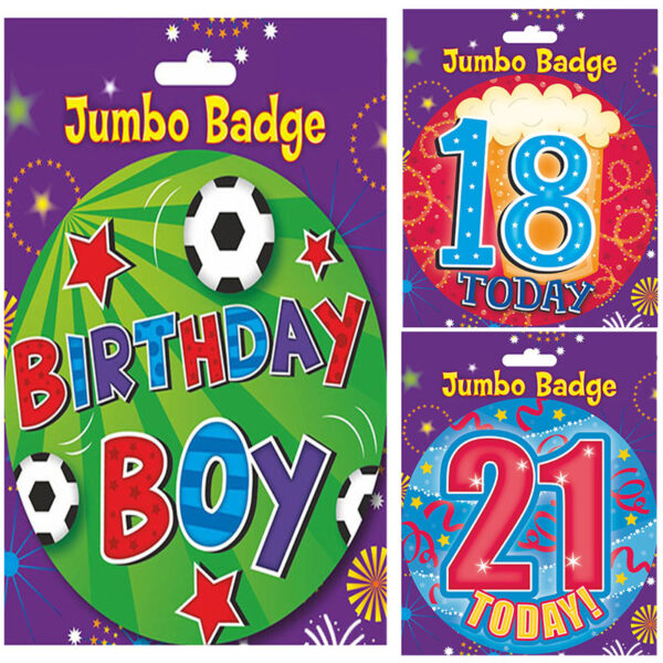 Main Boys Birthday Badge