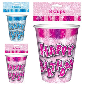 Happy Birthday Glam Cups Pack Of 8