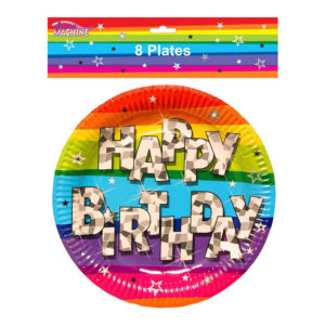 Funky Birthday Party Plates Pack Of 8