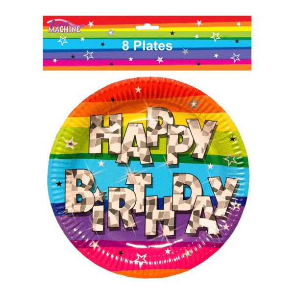 Funky Happy Birthday Plate