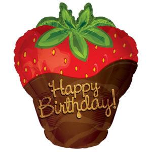 Happy Birthday Strawberry Shape Balloon