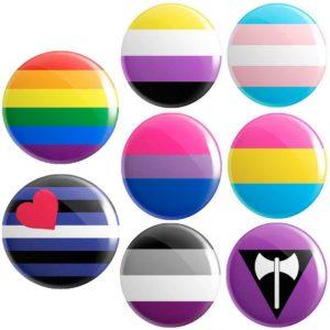 LGBT Pride Flag Badge 25mm