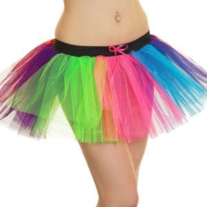3 Layers Clown Rainbow TuTu Skirt