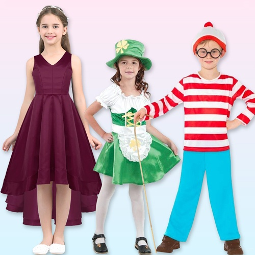 Kids Costumes for Halloween, Christmas, Book Day party