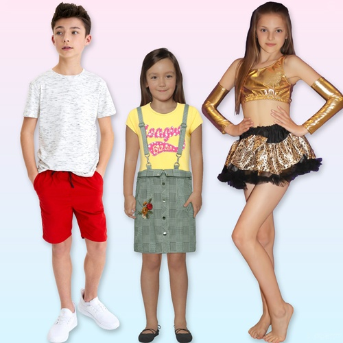 Girls Skirts and Boys Shorts for summer