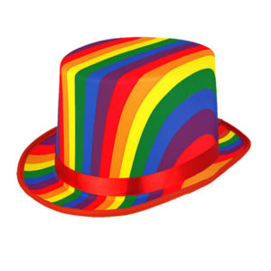 Rainbow Topper Pride Hat