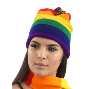 Rainbow Pride Knitted Hat