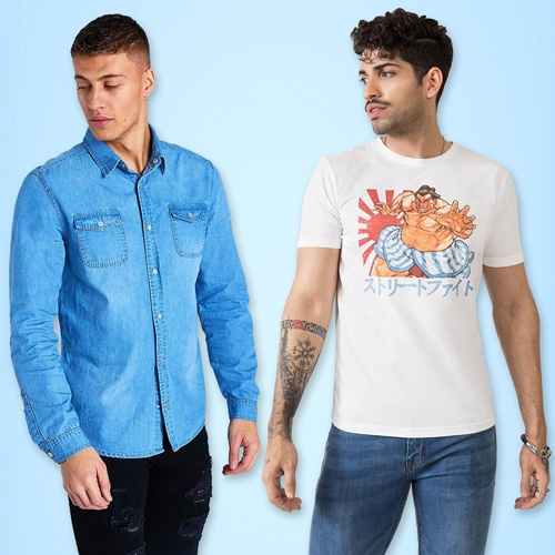 Tops and T Shirts for Men | Mens Polo Tops | Long Sleeve Shirts