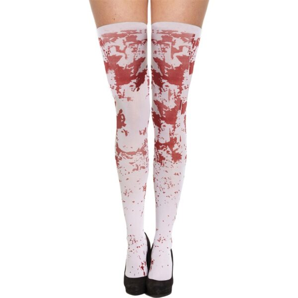 White Bloody Stockings for Halloween costumes dress up