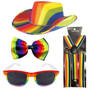 Adult Rainbow Cowboy Accessory Set